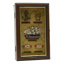 Ключница деревянная на стену Морская