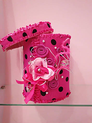 Коробка для подарка текстильная, фото 2