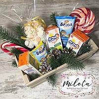 Вкуснейший детский набор в коробке, печенье, сок, сладкий подарок