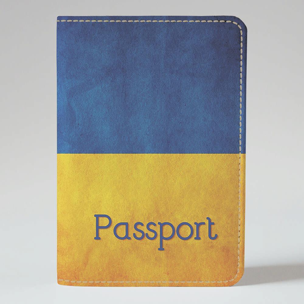 Обложка на паспорт Fisher Gifts 07 Сине-желтый фон (эко-кожа)