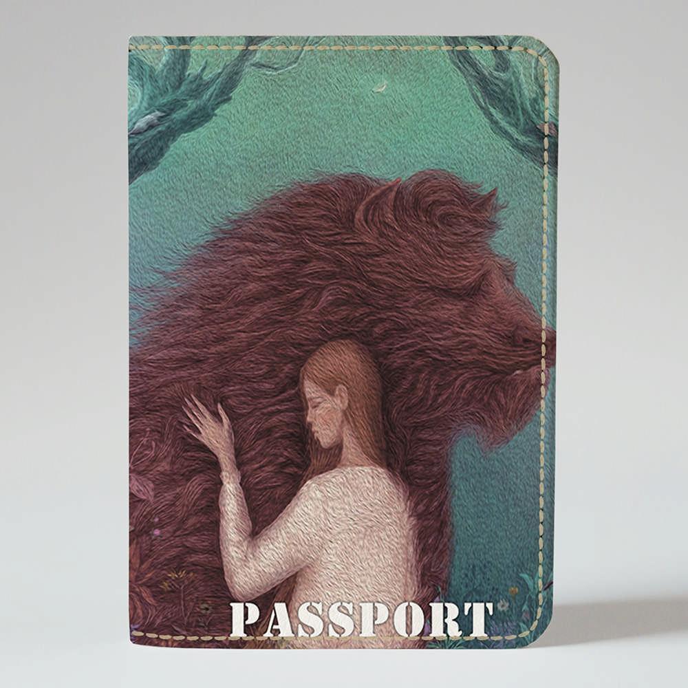 Обложка на паспорт Fisher Gifts 26 Красавица и чудовище (эко-кожа)