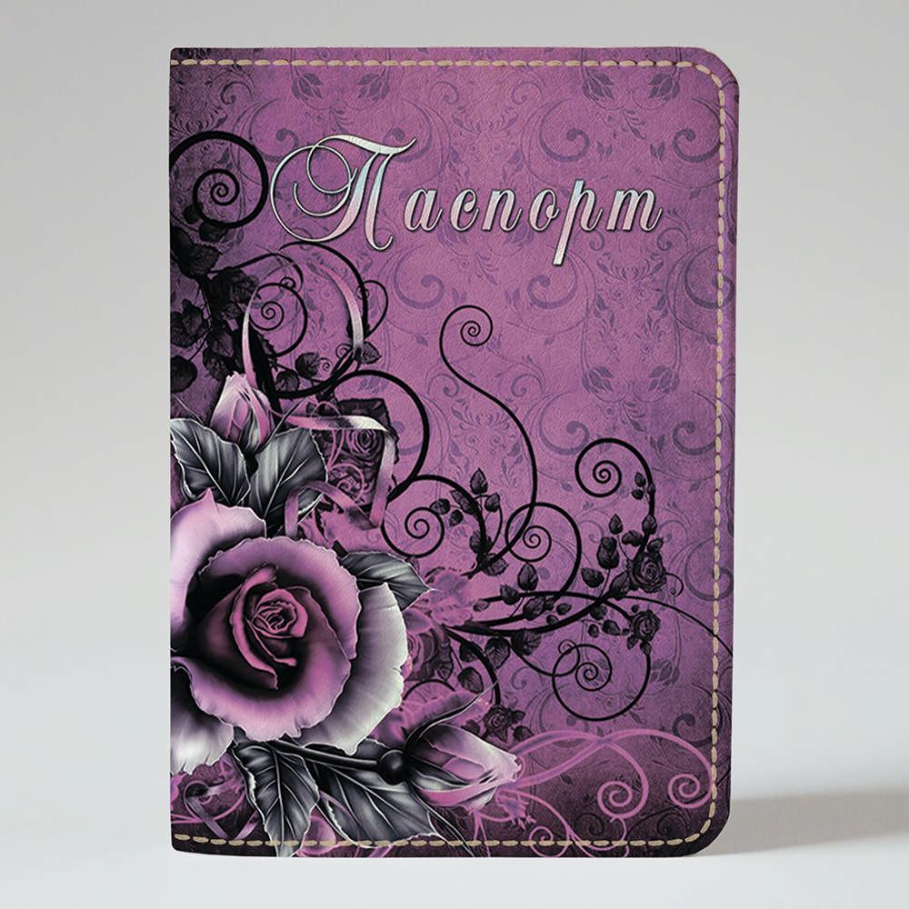 Обложка на паспорт v.1.0. Fisher Gifts 30 Цветочный колорит (эко-кожа)