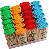 Зубочистки бамбуковыев форме зажигалки