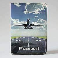 Обложка на паспорт Fisher Gifts 40 Самолет (эко-кожа)