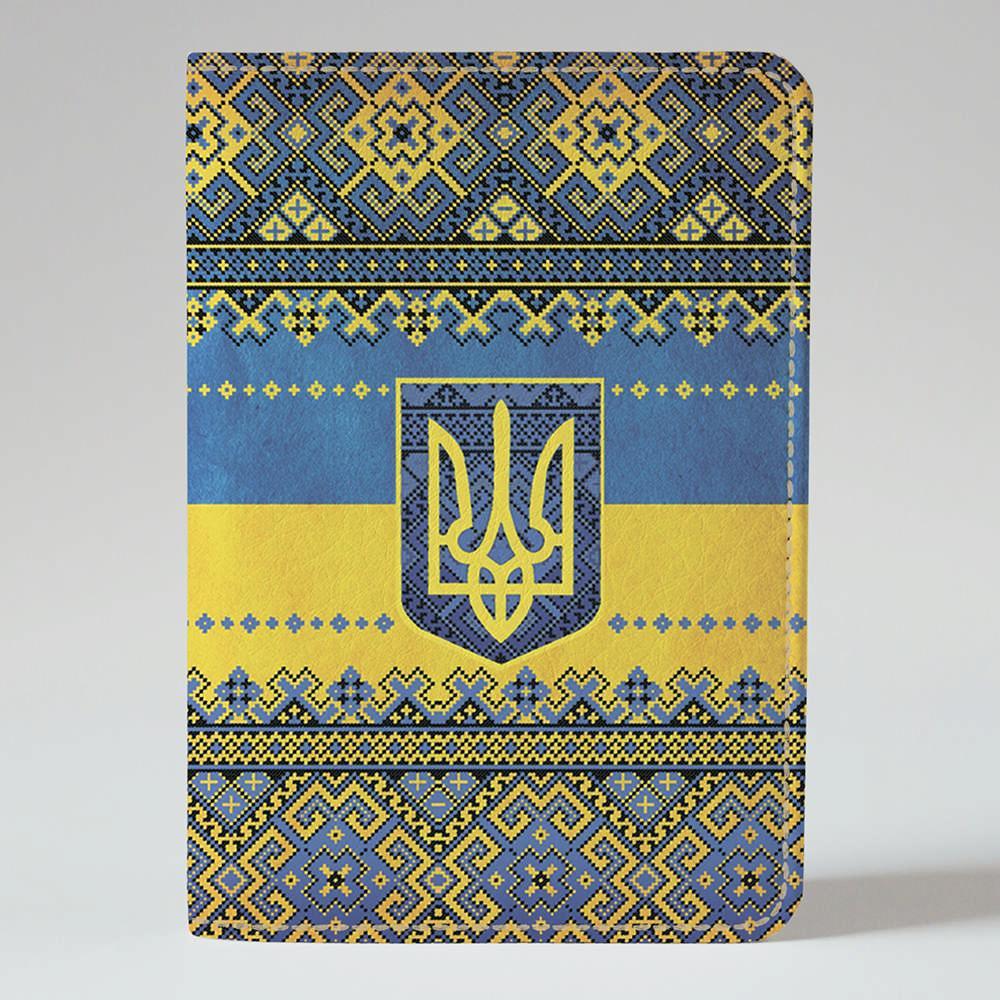 Обложка на паспорт Fisher Gifts 49 Вышиванка - Герб (эко-кожа)