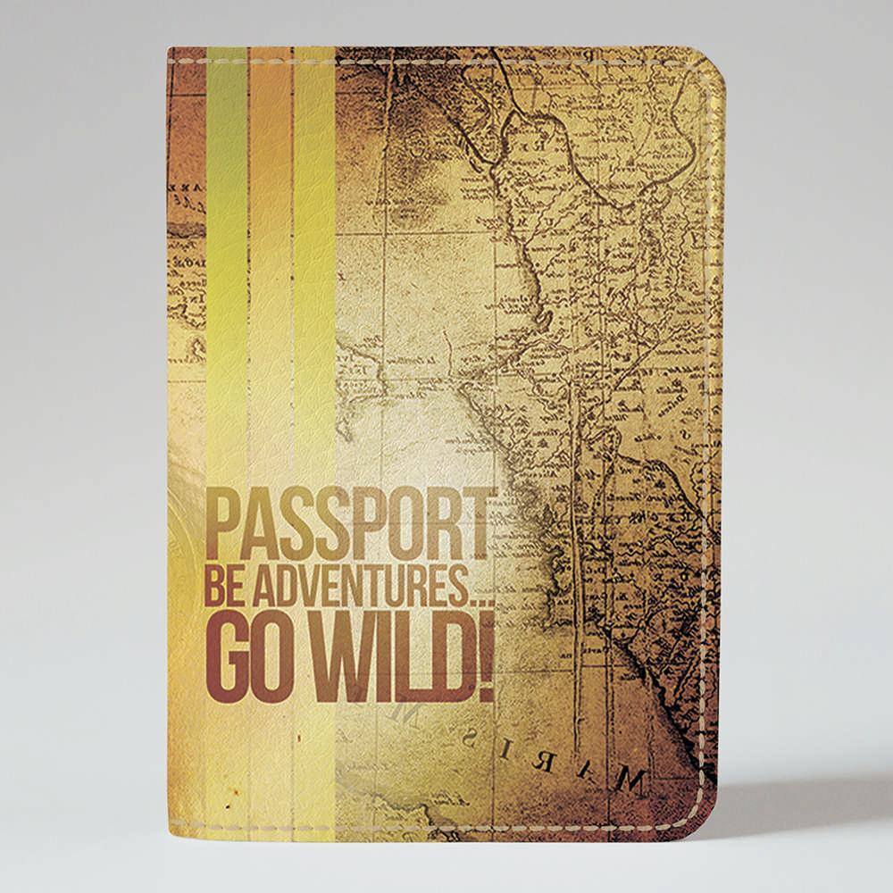 Обложка на паспорт v.1.0. Fisher Gifts 46 Be adventures (эко-кожа)
