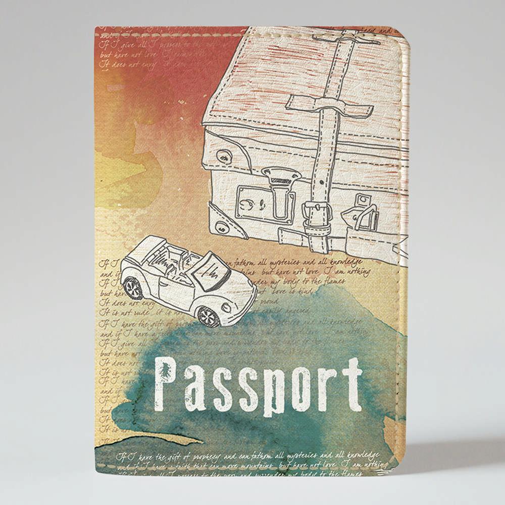 Обложка на паспорт Fisher Gifts 66 Отдых (эко-кожа)