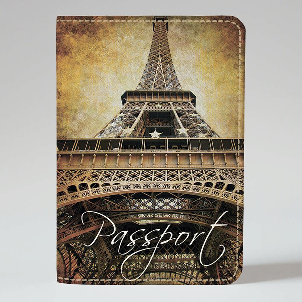 Обложка на паспорт Fisher Gifts 69 Эйфелевая башня - Горгулья (эко-кожа)