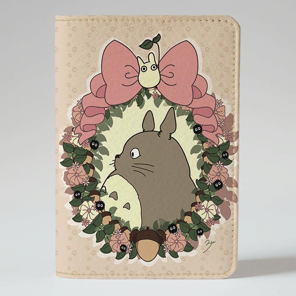 Обложка на паспорт Fisher Gifts 88 Гламурный Тоторо (эко-кожа)