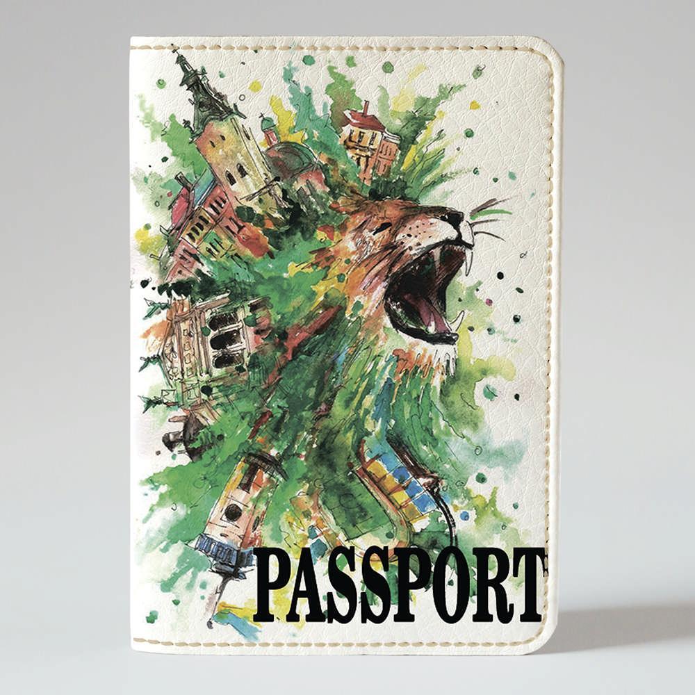 Обложка на паспорт Fisher Gifts 129 Креативный лев (эко-кожа)