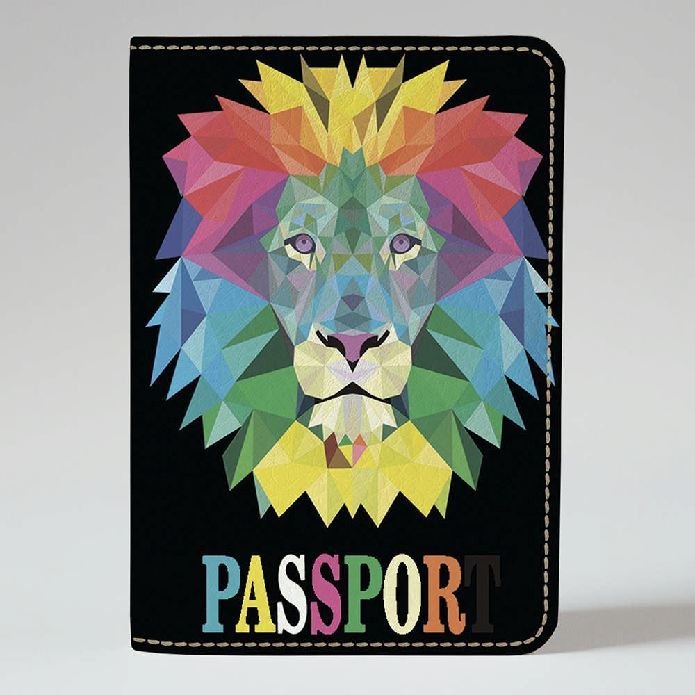 Обложка на паспорт Fisher Gifts 126 Лев абстракция (эко-кожа)