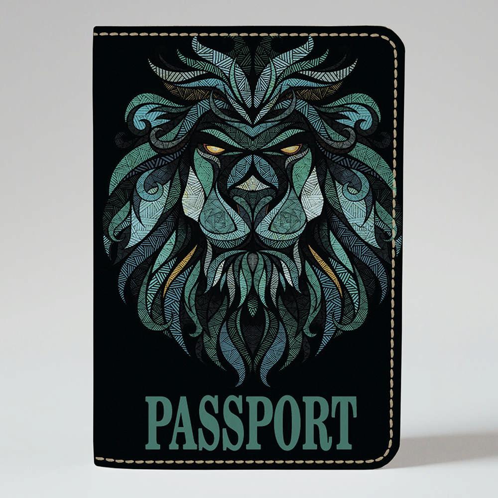 Обложка на паспорт Fisher Gifts 127 Лев абстракция 2 (эко-кожа)