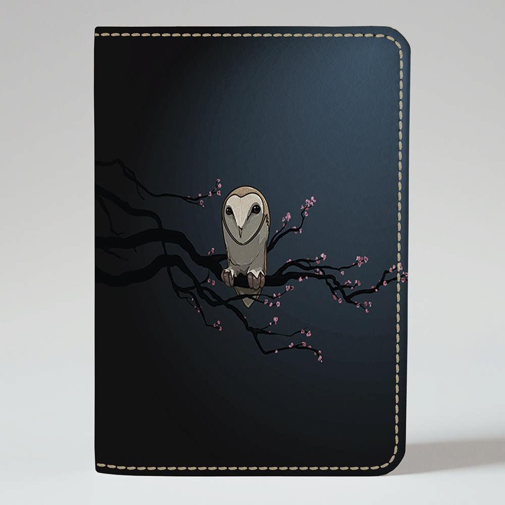 Обложка на паспорт Fisher Gifts 143 Сидящая сова=) (эко-кожа)
