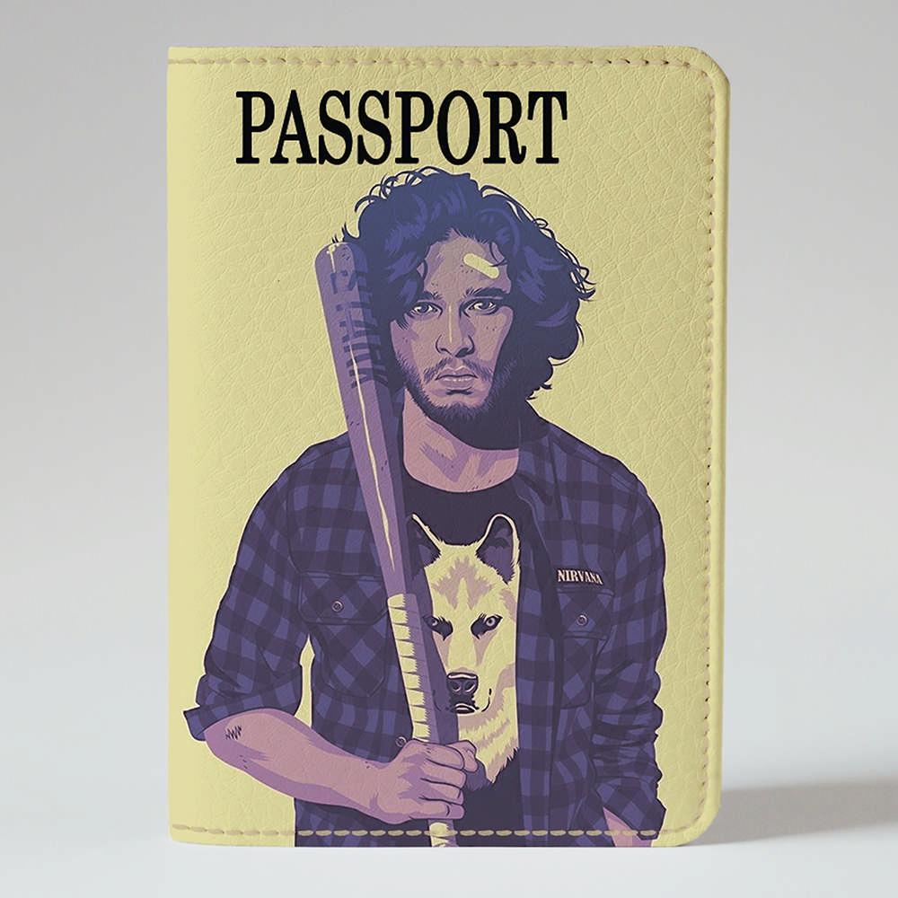Обложка на паспорт v.1.0. Fisher Gifts 158 Джон Сноу арт (эко-кожа)