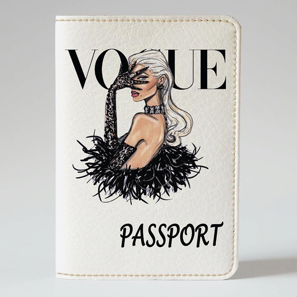 Обложка на паспорт Fisher Gifts 162 Девушка VOGUE 14 (эко-кожа)