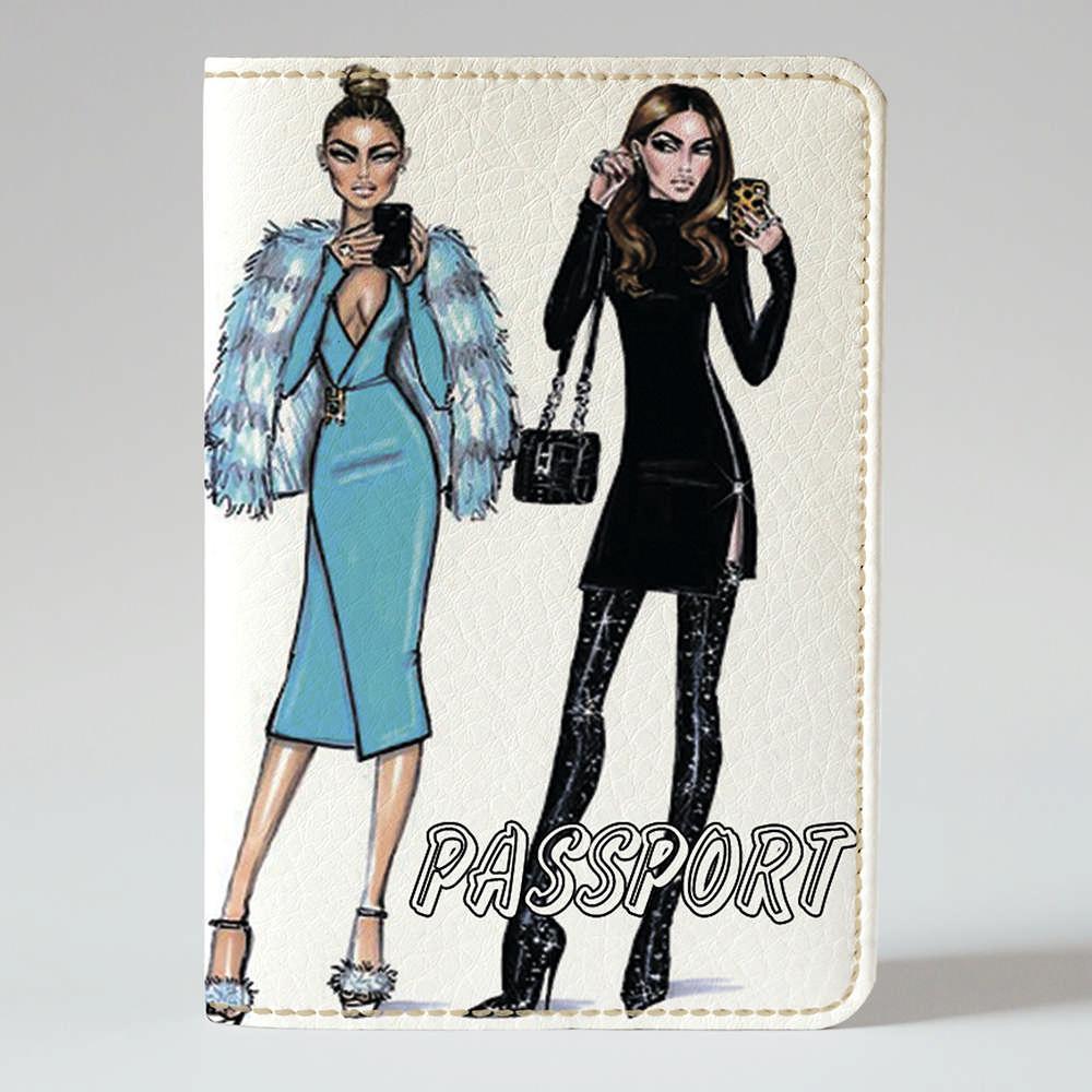 Обложка на паспорт Fisher Gifts 170 Девушка VOGUE 21 (эко-кожа)