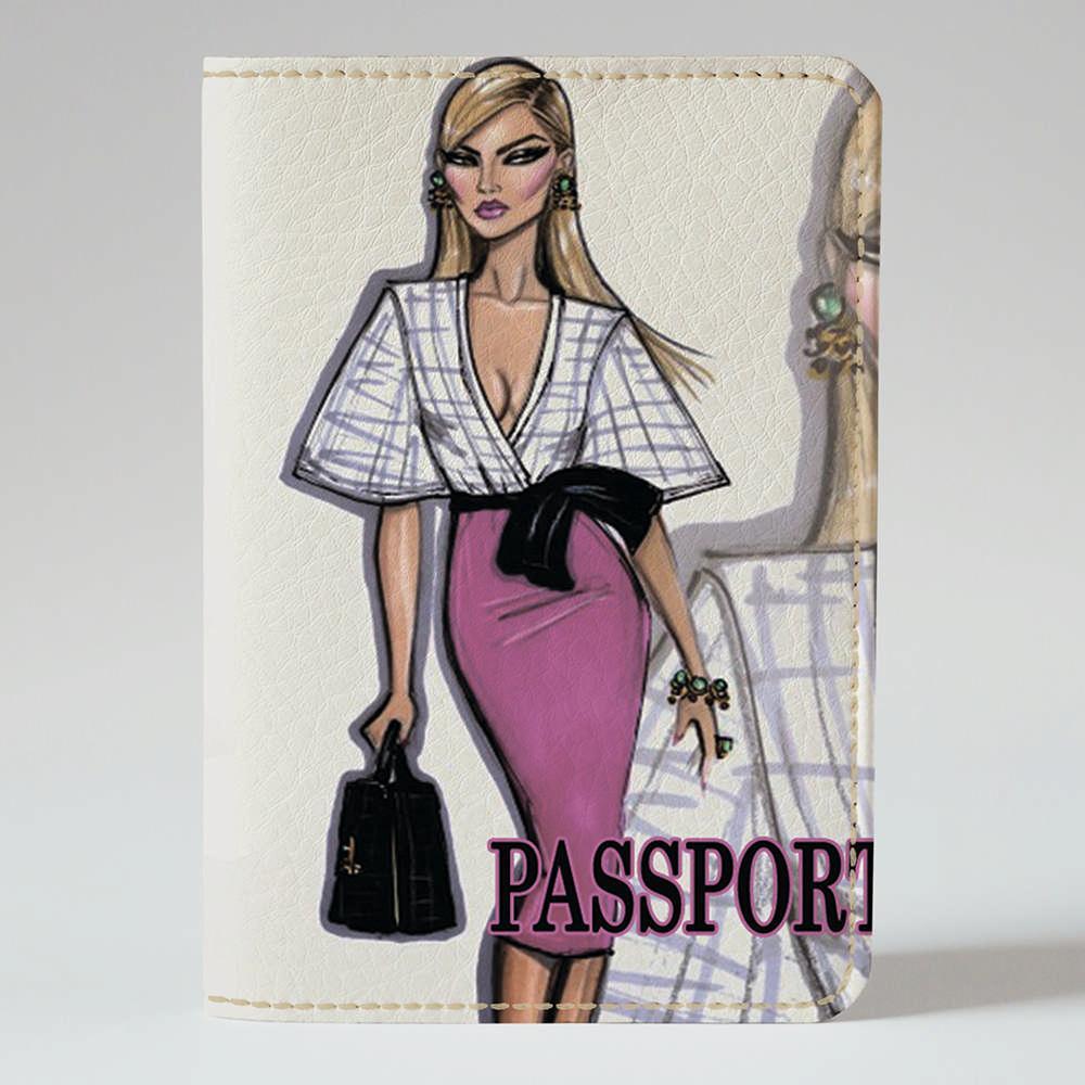 Обложка на паспорт Fisher Gifts 167 Девушка VOGUE 19 (эко-кожа)