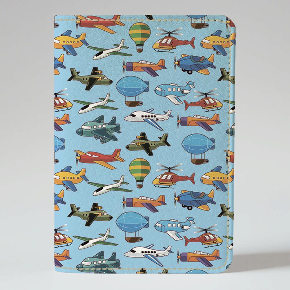 Обложка на паспорт v.1.0. Fisher Gifts 175 Самолетики (эко-кожа)
