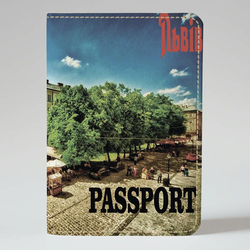 Обложка на паспорт Fisher Gifts 178 Весенний Львов (эко-кожа)