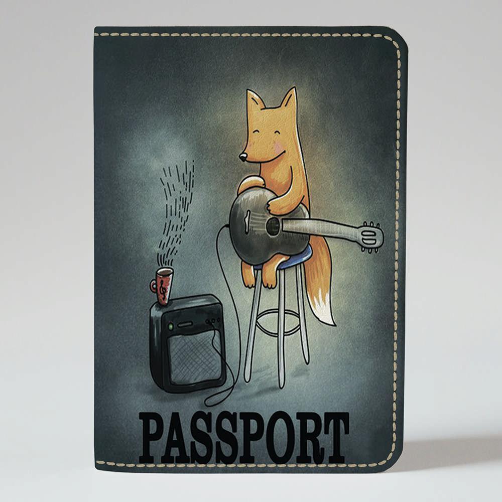 Обложка на паспорт 1.0 Fisher Gifts 180 Лисичка с гитарой (эко-кожа)