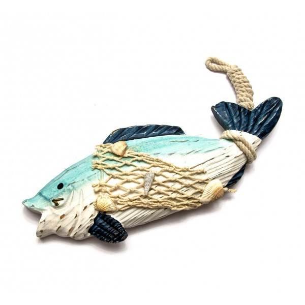 Ключница для дома настенная Рыба