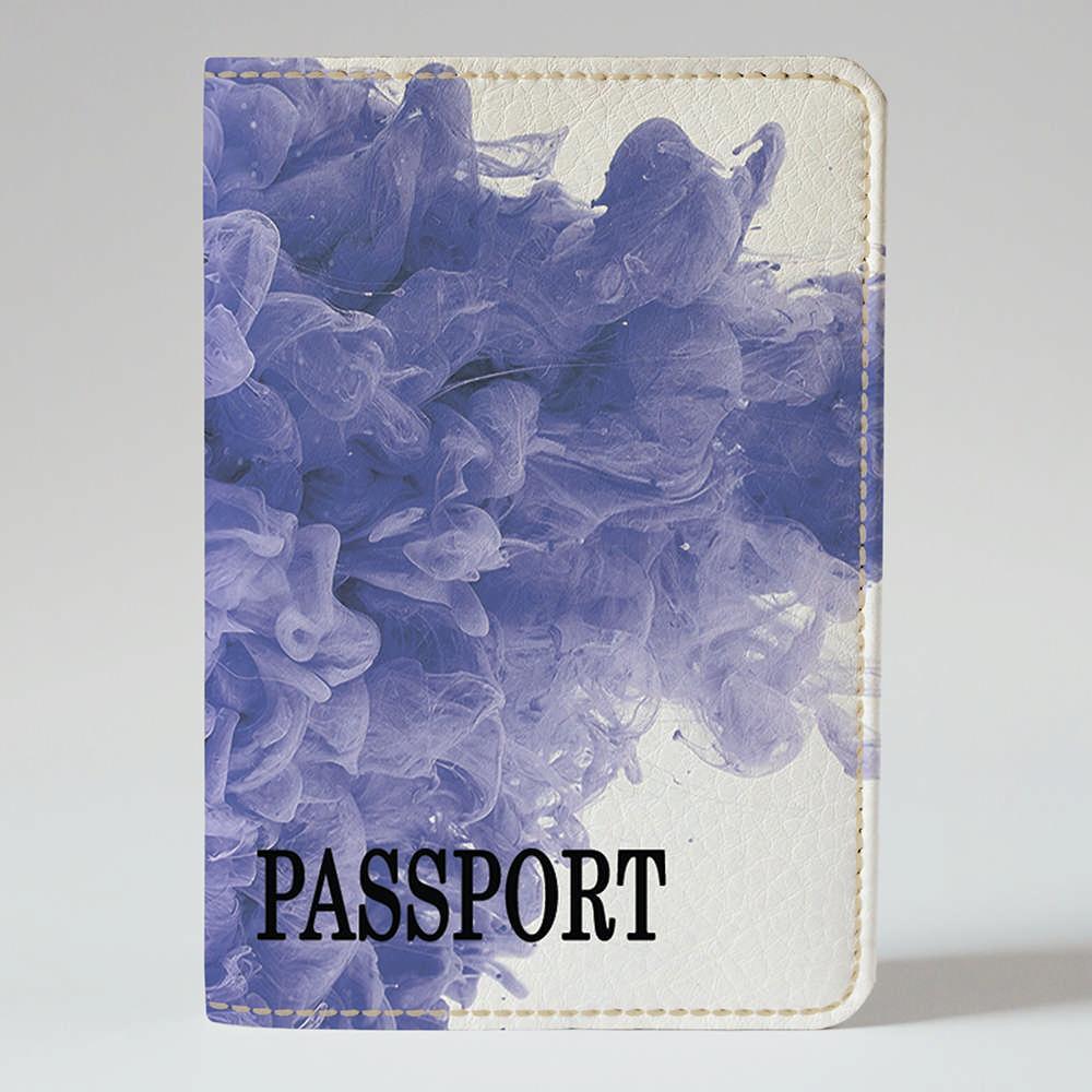 Обложка на паспорт Fisher Gifts 184 Фиолетовая абстракция (эко-кожа)