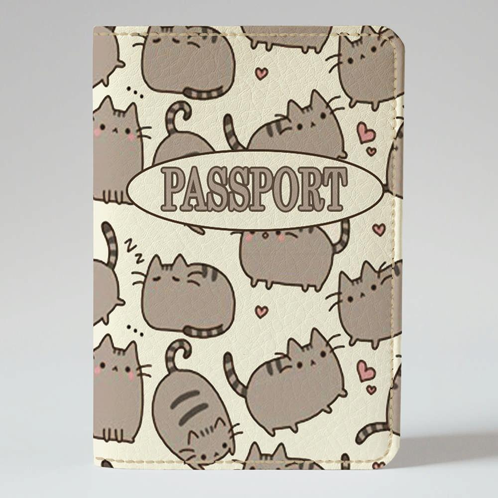 Обложка на паспорт Fisher Gifts 195 Толстые коты фон (эко-кожа)