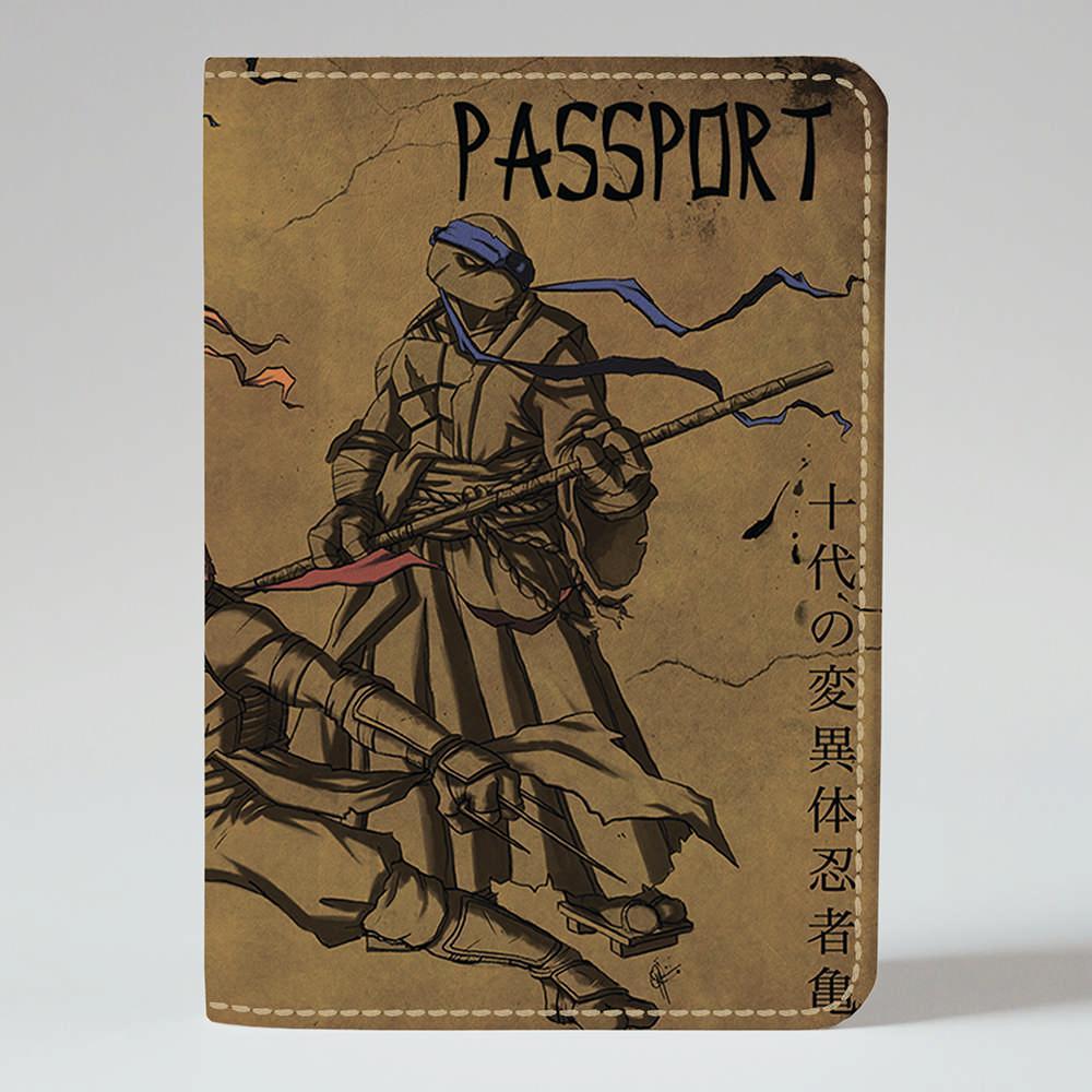 Обложка на паспорт v.1.0. Fisher Gifts 206 Черепашки ниндзя (эко-кожа)