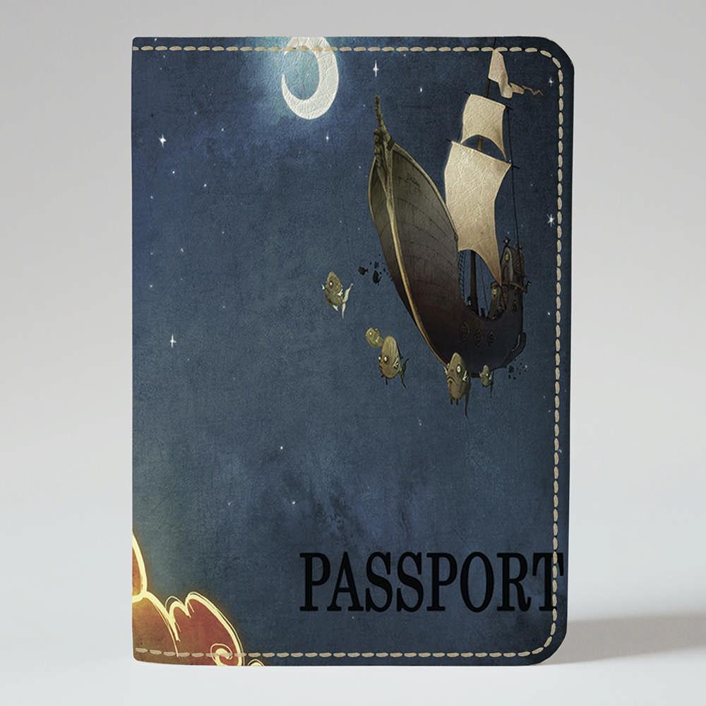 Обложка на паспорт v.1.0. Fisher Gifts 212 Корабль мечты (эко-кожа)