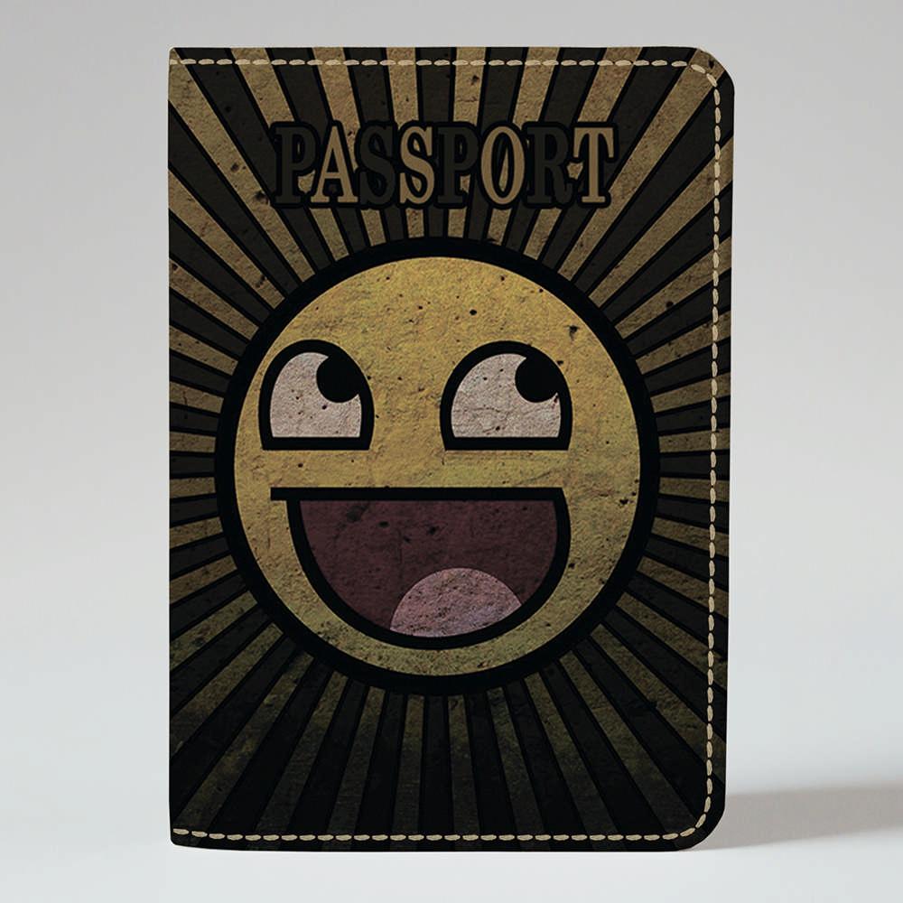 Обложка на паспорт Fisher Gifts 214 Креативный смайлик (эко-кожа)