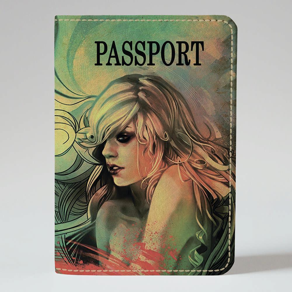 Обложка на паспорт Fisher Gifts 224 Девушка в мечтах (эко-кожа)