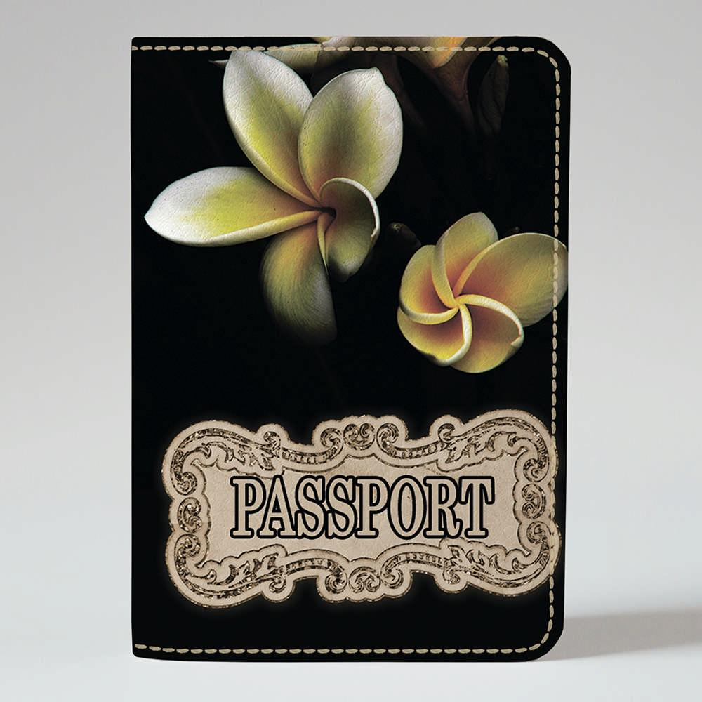 Обложка на паспорт Fisher Gifts 243 Желтый бутон радости (эко-кожа)