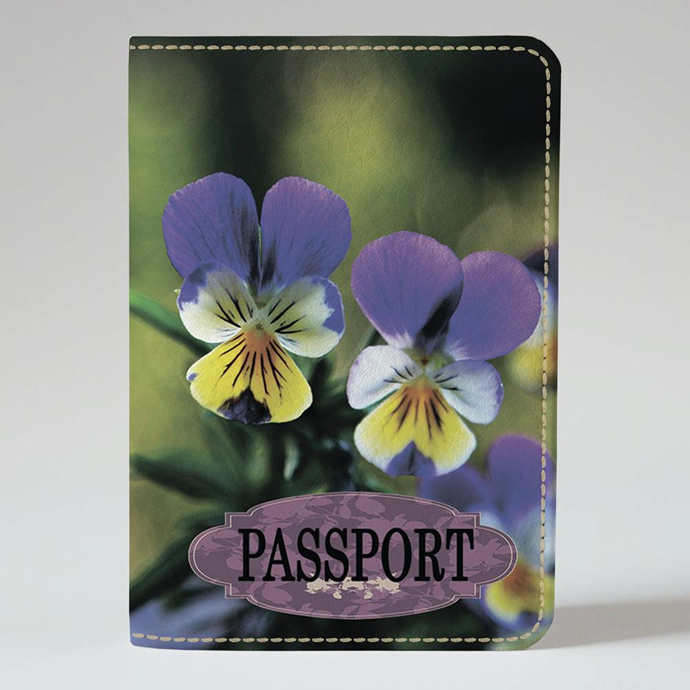 Обложка на паспорт Fisher Gifts 246 Анютины глазки (эко-кожа)