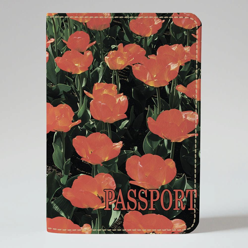 Обложка на паспорт v.1.0. Fisher Gifts 254 Голландские тюльпаны (эко-кожа)