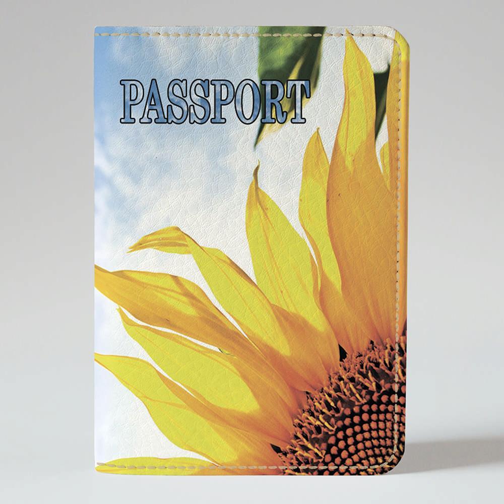 Обложка на паспорт Fisher Gifts 271 Утренний подсолнух (эко-кожа)