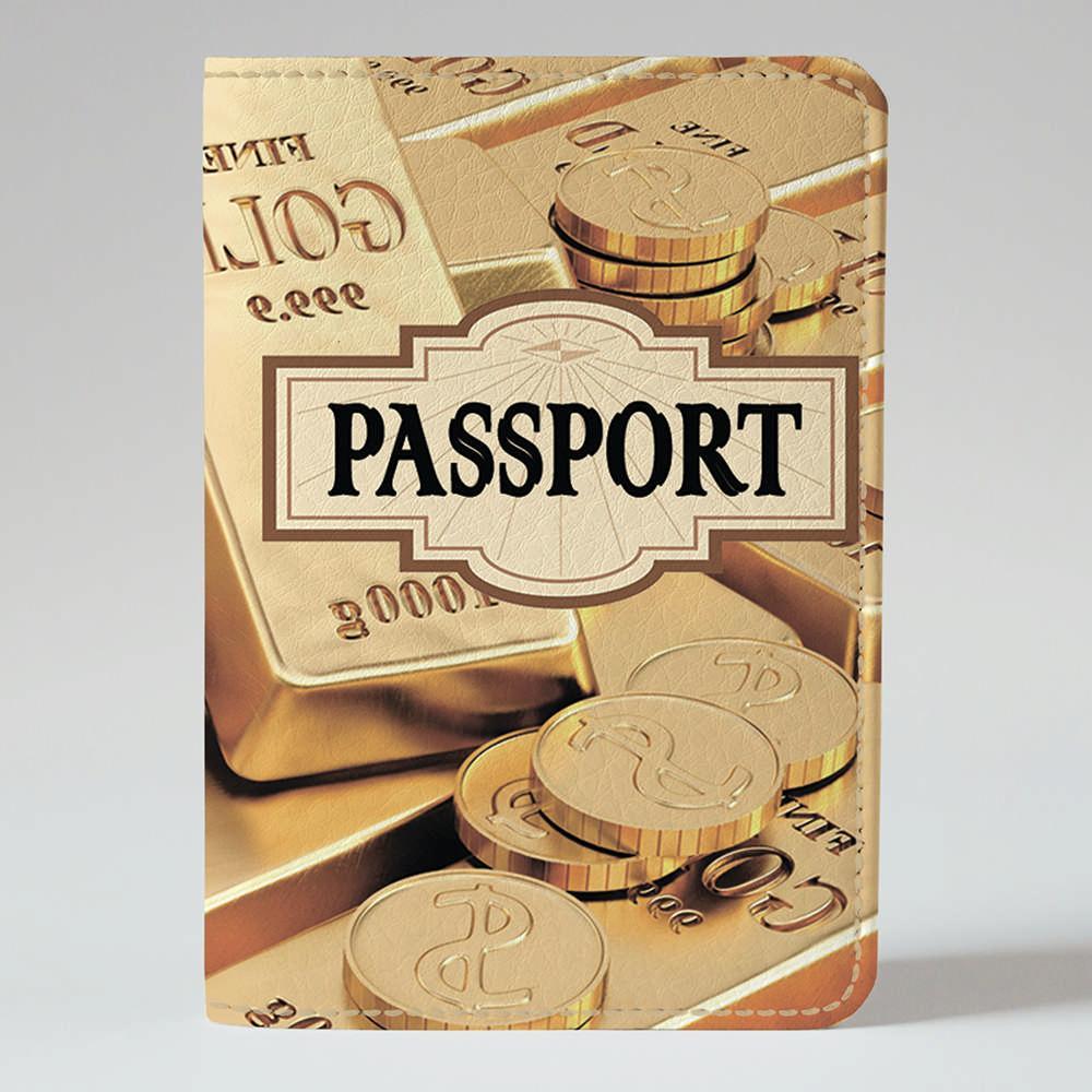 Обложка на паспорт v.1.0. Fisher Gifts 277 Золотые деньги (эко-кожа)