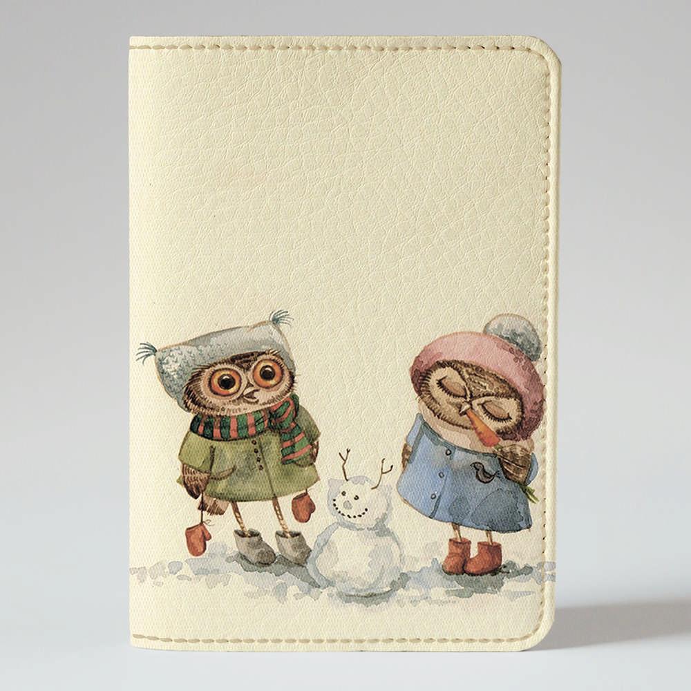 Обложка на паспорт Fisher Gifts 280 Вкусный нос снеговика (эко-кожа)