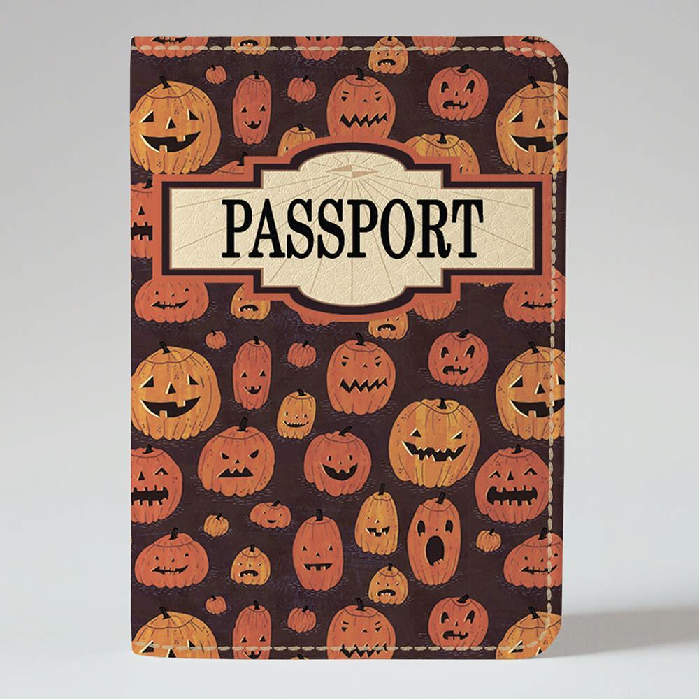Обложка на паспорт v.1.0. Fisher Gifts 283 Страшные дыни фон (эко-кожа)