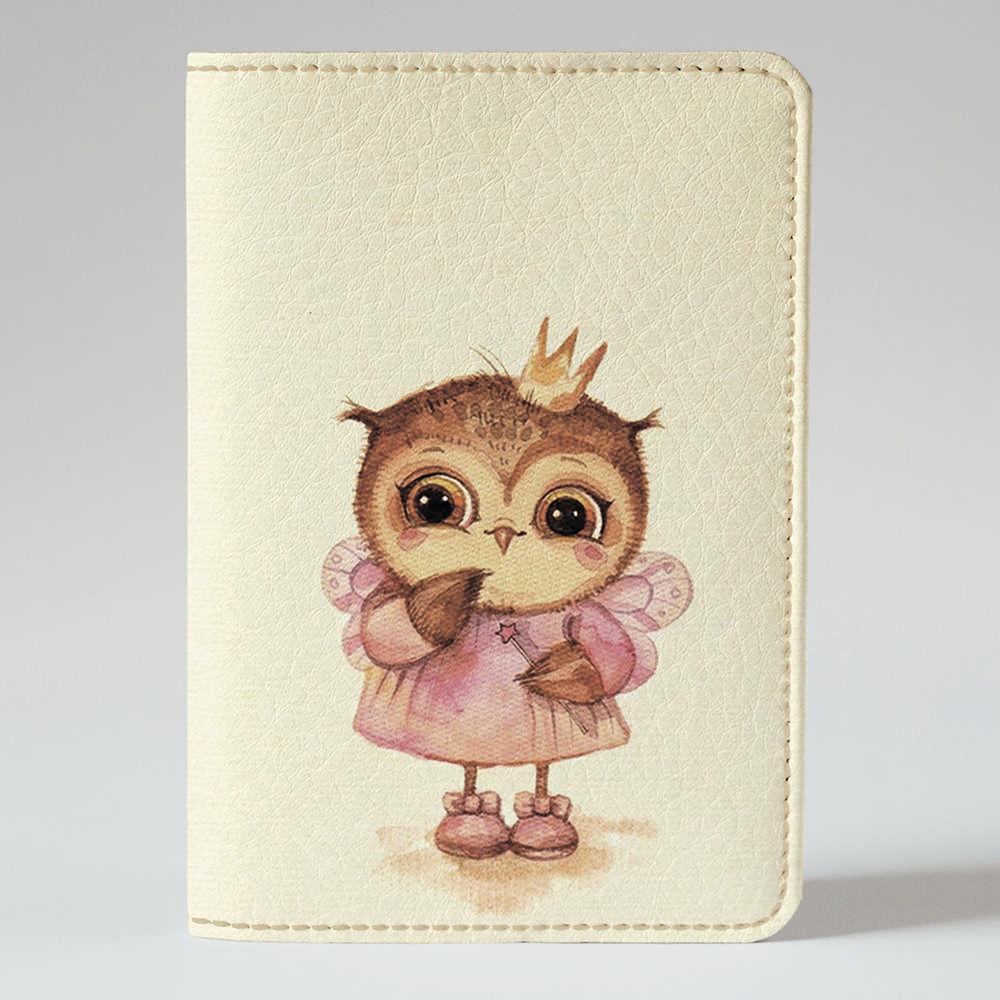 Обложка на паспорт v.1.0. Fisher Gifts 281 Совушка принцесса (эко-кожа)