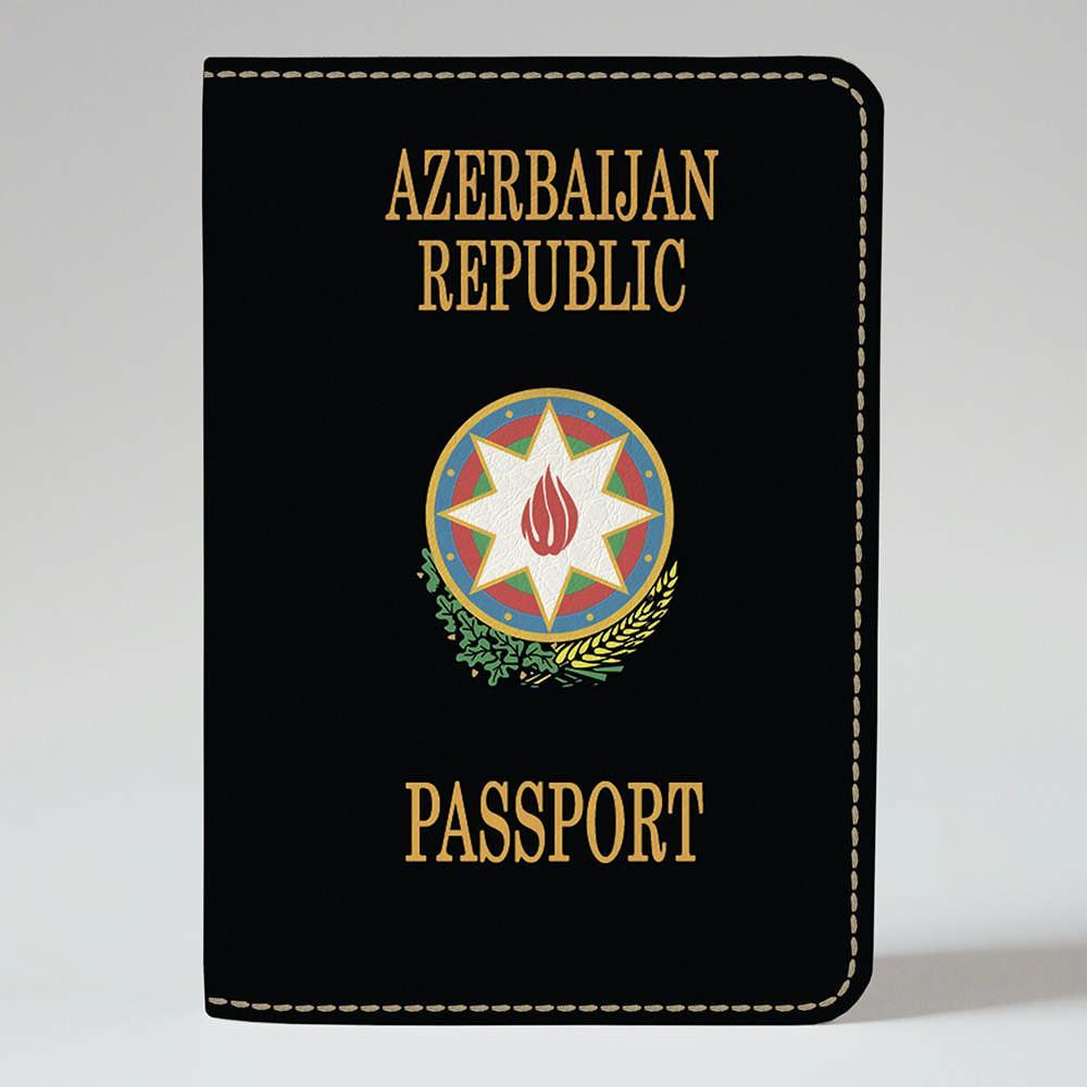 Обложка на паспорт v.1.0. Fisher Gifts 302 Azerbaijan Republic black (эко-кожа)