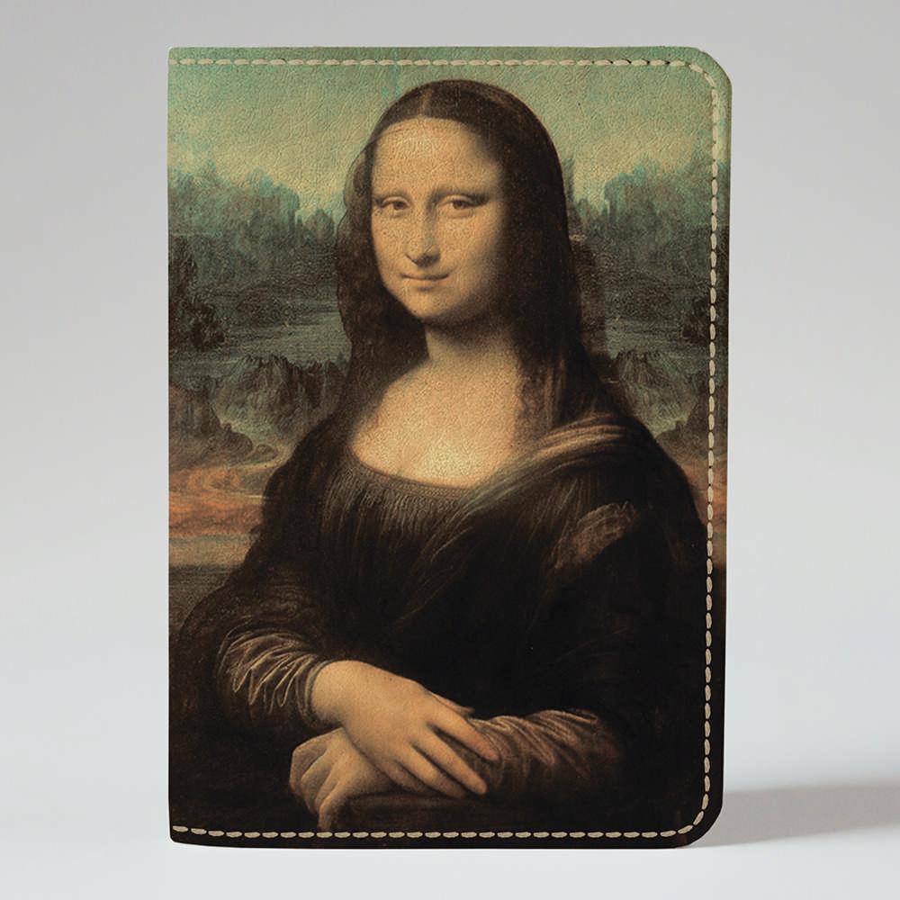 Обложка на паспорт v.1.0. Fisher Gifts 304 Мона Лиза. Леонардо да Винчи (эко-кожа)