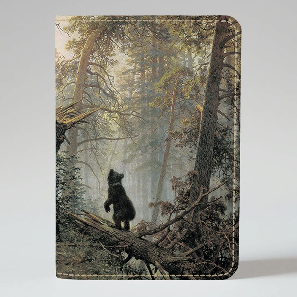 Обложка на паспорт 1.0 Fisher Gifts 306 Утро в сосновом лесу. Шишкин (эко-кожа)