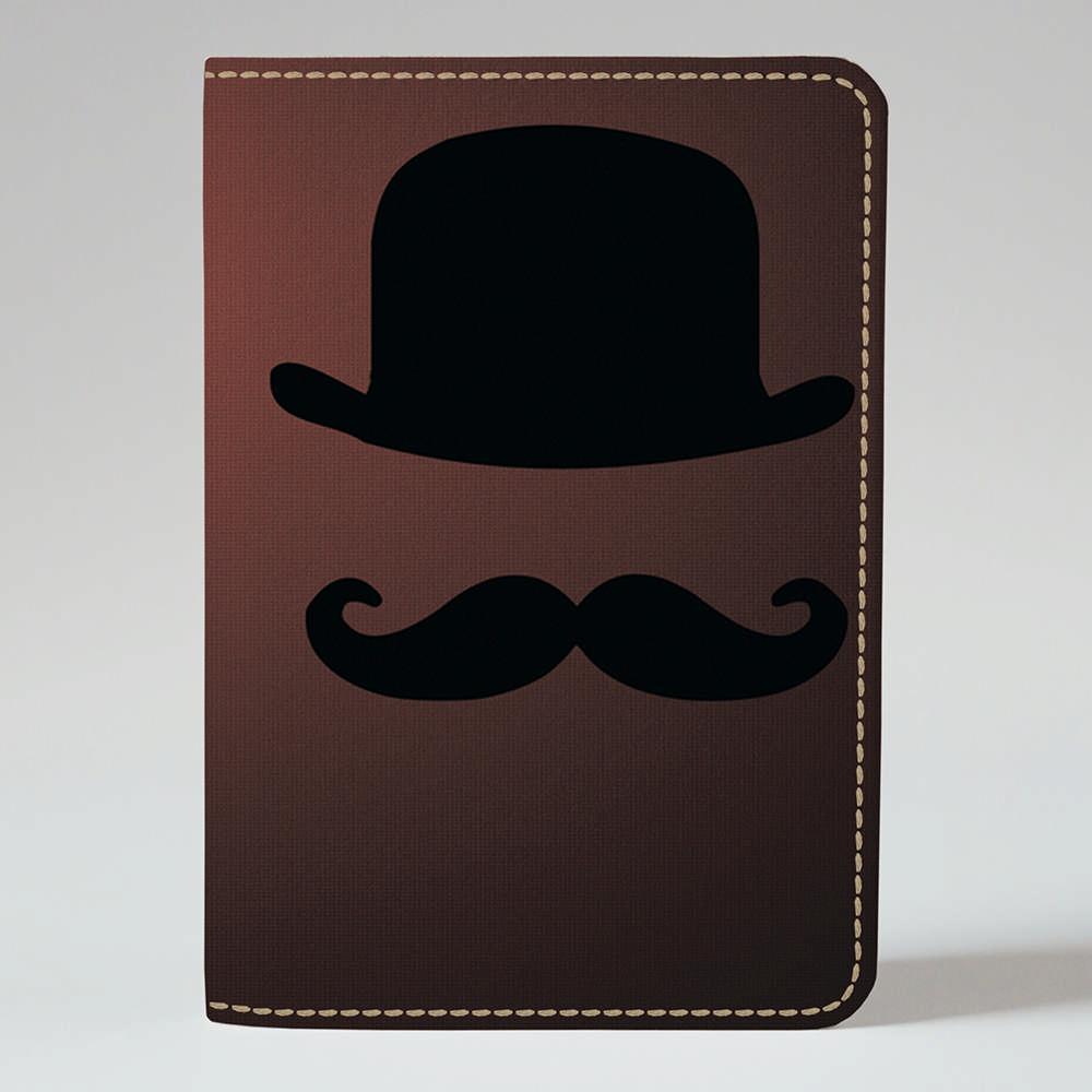 Обложка на паспорт 1.0 Fisher Gifts 310 Усы и шляпа (эко-кожа)