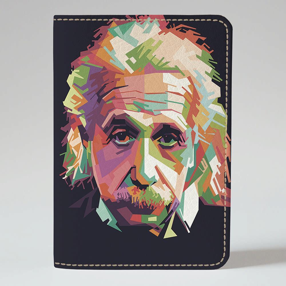 Обложка на паспорт v.1.0. Fisher Gifts 319 Разноцветный Альберт Эйнштейн (эко-кожа)