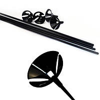 Палочки для шаров, держатели для шаров черные 35 см