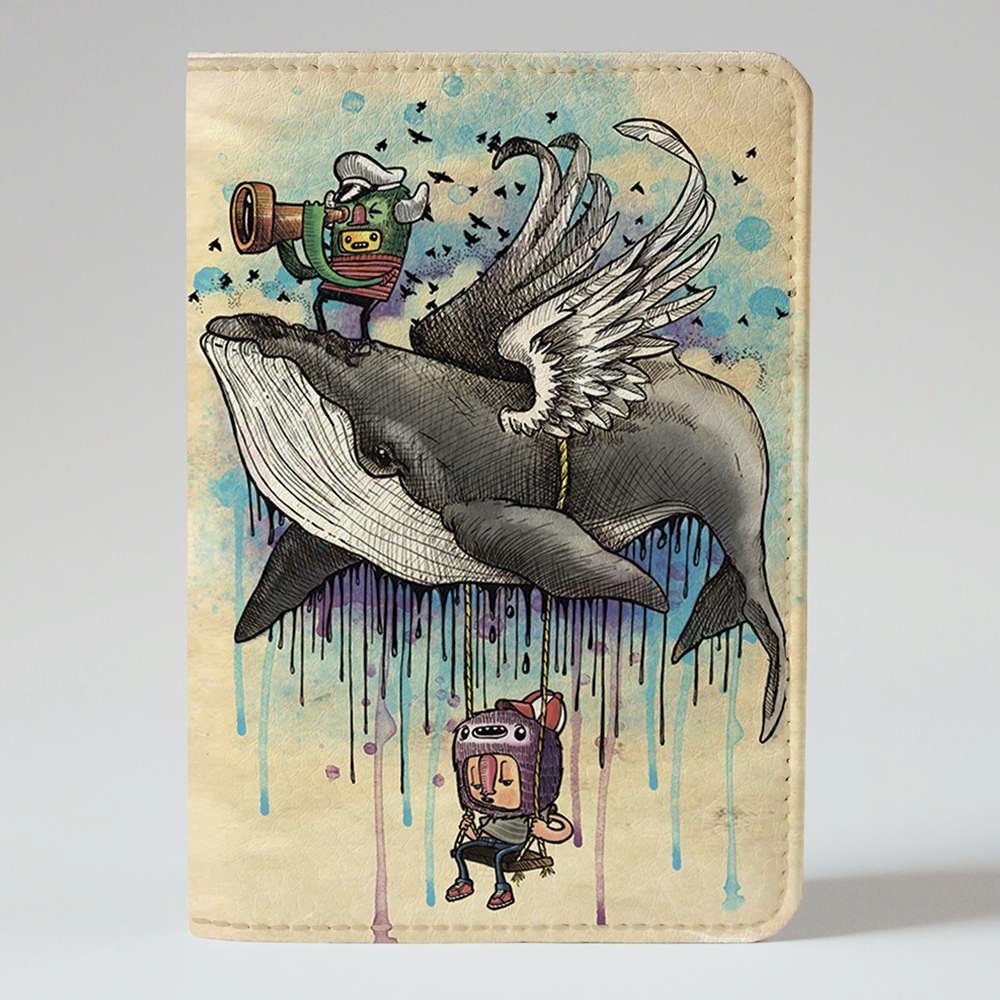 Обложка на паспорт Fisher Gifts 345 Капитан кит (эко-кожа)