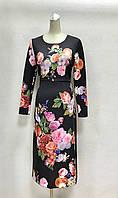 Платье в цветах миди с длинным рукавом Dolce&Gabbana, фото 1