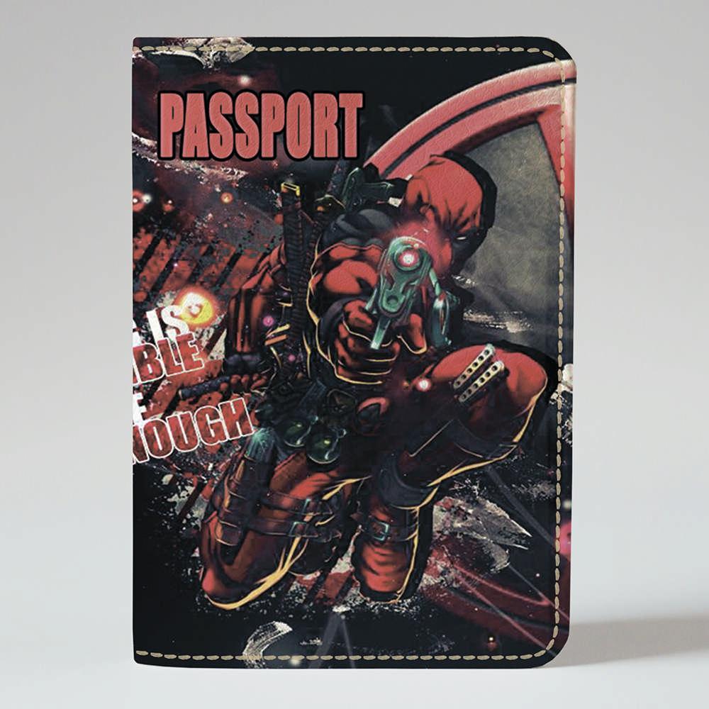 Обложка на паспорт Fisher Gifts 370 Дэдпул. Возмездие (эко-кожа)