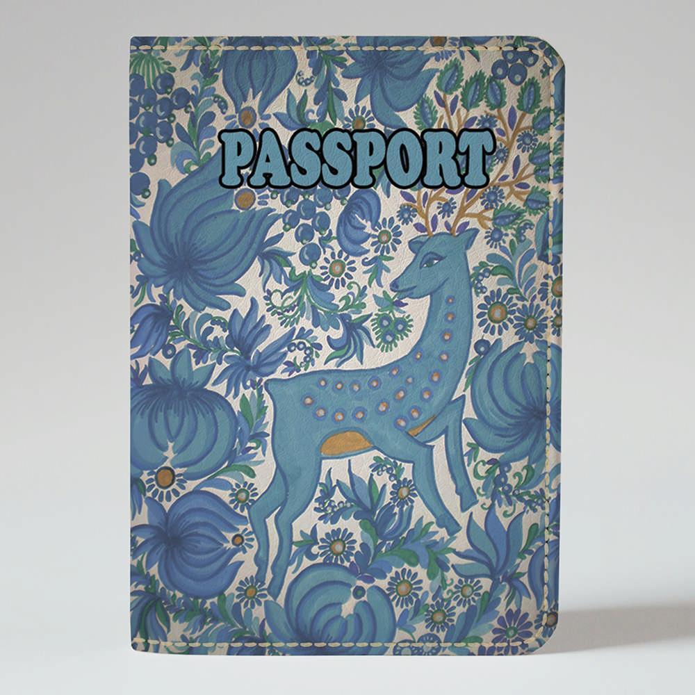 Обложка на паспорт v.1.0. Fisher Gifts 366 Петриковская роспись. Олень (эко-кожа)