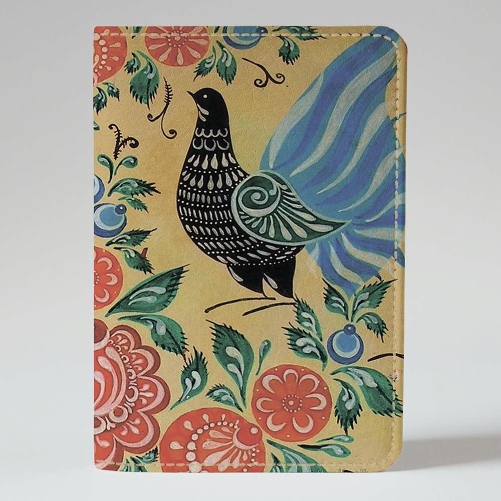 Обложка на паспорт v.1.0. Fisher Gifts 367 Петриковская роспись. Птица (эко-кожа)